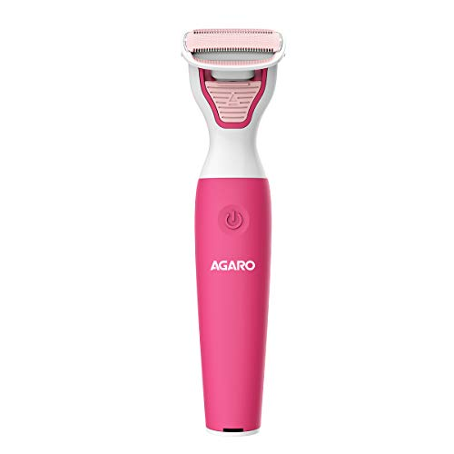 AGARO FT-2001 Female Electric Trimmer/Shaver for Arms, Legs, Body & Bikini Area, Hair Removal, Electric Trimmer for Women, Pink