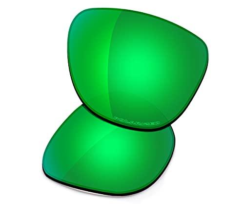 Saucer Lentes de repuesto premium para gafas de sol Oakley Frogskins Mix OO9428, (Alta definición: verde jade polarizado.), Talla única