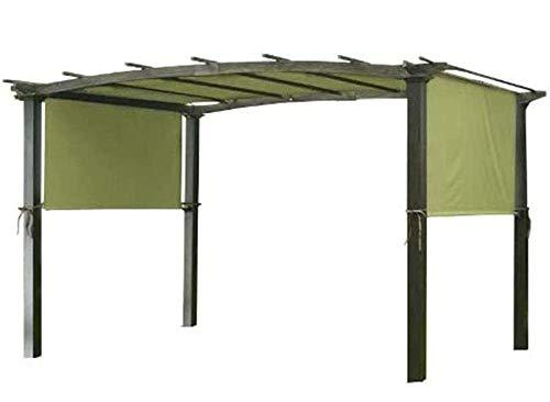 Toldo de repuesto para jardín, vela parasol de 17x6,5 F, cubierta de repuesto para pérgola, parasol con bloqueo de rayos UV, impermeable para estructura de pérgola, patio, patio, parque, porche.