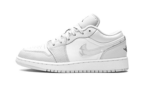 Nike Juniors Air Jordan 1 Bajo SE GS - DD3234100 - Blanco Camo, color Blanco, talla 37.5 EU