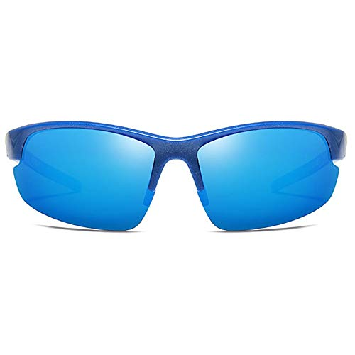 LG Snow Gafas De Sol Polarizadas De Material De Lija Polarizadas for Hombres De Material Plástico UV400 De Color Azul/Rojo/Naranja Al Aire Libre (Color : Blue)