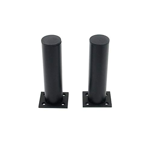 6 inch/15cm Furniture Legs, Set of 4 Aluminium Plinth Adjustable Cabinet Feet Black for Cupboard Sofa Kitchen Couch Bookcase