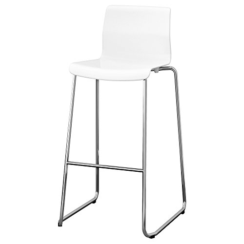 GLENN Barhocker 50x52x100 cm weiß/verchromt
