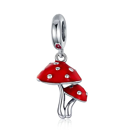 LISHOU Elefante Mariposa Conejo Vaca Mono 925 Plata De Ley Animal Flor Seta Colgante Charm Beads DIY Mujeres Pulsera Joyería D8