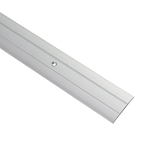 Gedotec Übergangsprofil Aluminium Boden-Leiste zum Schrauben Übergangs-Schiene für Fußböden | Länge 100 cm | Breite 37 mm | Bodenprofil Alu Silber | Ausgleichsprofil gelocht | 1 Stück - Türschwelle
