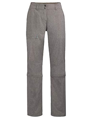 VAUDE - Skomer Capri Zip-Off II, Abzippbare Wanderhose - Pantalon de randonnée amovible - Femme - Marron (Noix de coco) - 34-Short/XXS