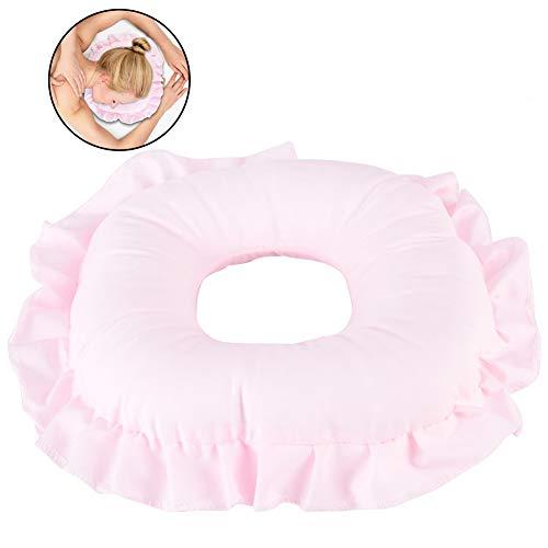 Duevin Entspannen Gesicht Kissen Massageliege Relaxkissen Massagekissen Kopfstütze Gesichts Massage Kissen Hautpflege Überlagerungs Kopfkissen (Rosa)