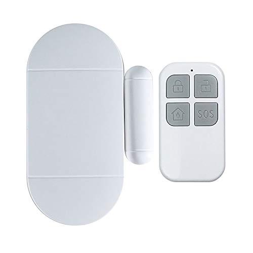 Alarma De Puerta y Ventana Puerta del imán y sensor de ventanas Ventana de seguridad Sensor de alarma de la puerta Conexión WiFi Fácil de instalar Alarma antirrobo de seguridad para el hogar Sistema D