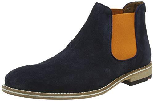 LLOYD Herren Chelsea Boots Gerson, Männer Stiefeletten,VARIOFOOTBED, Stiefel halbstiefel Bootie Schlupfstiefel flach Herren,Pilot,6 UK / 39 EU