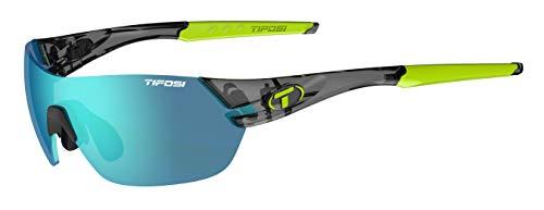 Tifosi Gafas de sol unisex Slice, cristal ahumado/azul claro, S a M