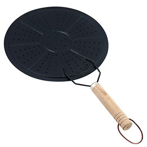 Qimao Chaleur Diffuseur plaque disque Batterie de cuisine Café au Lait chaleur Diffuseur Anneau Simmer Anneau avec poignée en bois