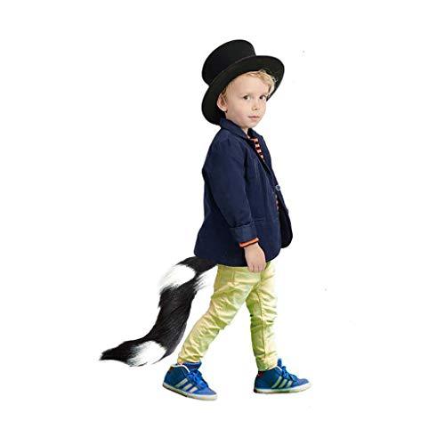 Lomelomme Halloween Kunstpelz Schwanz Gürtel Kinder Cosplay pelzigen Tier einstellbar Karneval Party Halloween Fuchsschwanz Einstellbar