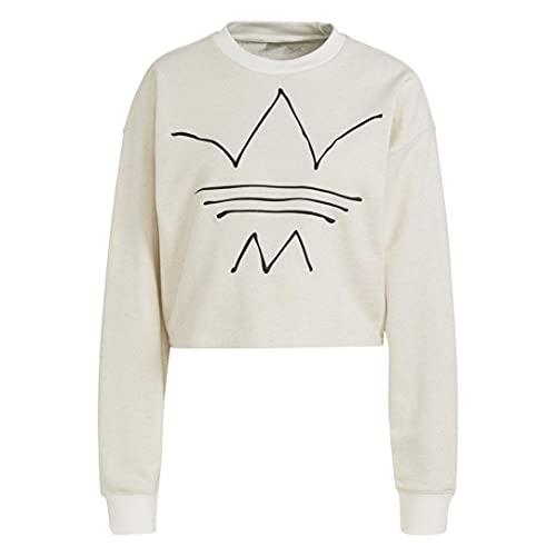 adidas GN4333 Sweatshirt Pullover Womens Off White Mel 38