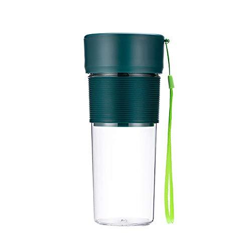 SXXYTCWL Portátil exprimidor de alimentos PP Material Cuerpo sin BPA PEQUEÑO USB Fruta recargable Taza de jugo de hielo aplastado hielo Blender Cortador de cuatro hojas Cabeza de corte de cuatro hojas
