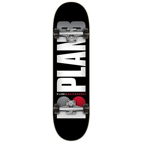 Plan B Team Og Black Factory - Skateboard completo da 19,7 cm