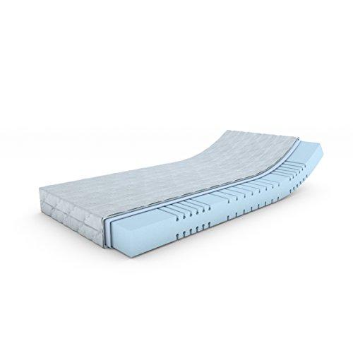 MSS® Mellow-Foam-7-Zonen Kaltschaummatratze H4 / 130 cm x 200 cm / H4 ab 100 kg = hart