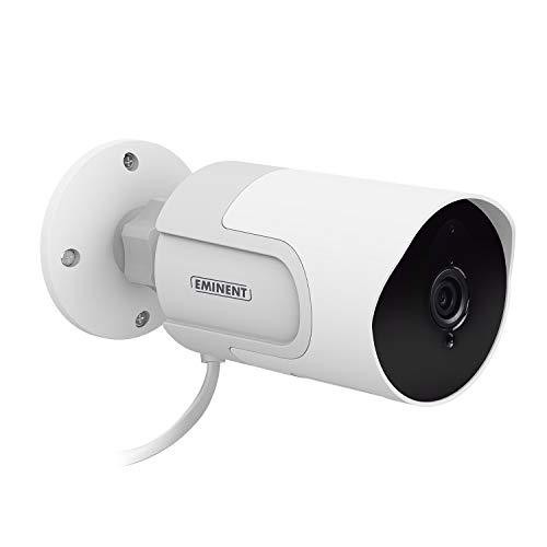 Eminent EM6420 Telecamera di Sorveglianza WiFI da Interno/Esterno, E-Smartlife Full HD 1080p, per Casa, Bambini, Anziani e Animali, Rilevamento movimento, Audio bidirezionale, Compatibile con Alexa