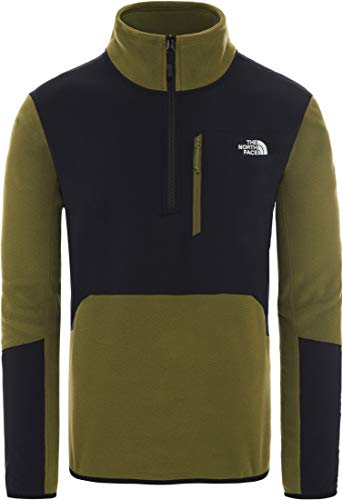THE NORTH FACE Glacier Pro 1/4 Zip Jacke Herren fir Green/TNF Black Größe L 2020 Midlayer
