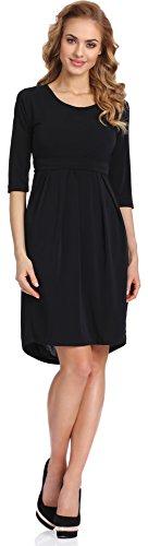 Merry Style Damen Kleid Lucy (Schwarz, XL)
