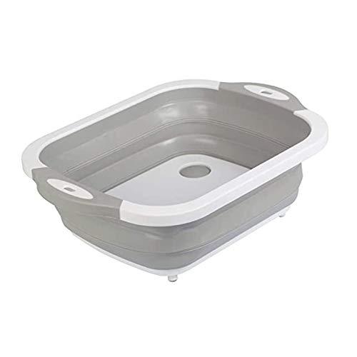 Cubo de hielo para el hogar Multifuncional plegable tabla de cortar drenaje vegetal lavabo lavabo conveniente fregadero plástico