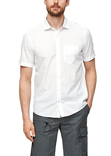 s.Oliver Herren Regular: Hemd aus Baumwolle white XXL