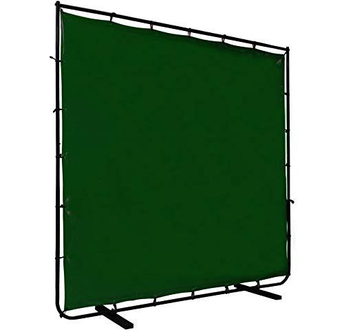 VIZ-PRO Green Vinyl Welding Curtain/Welding Screen With Frame, 6' x 6'