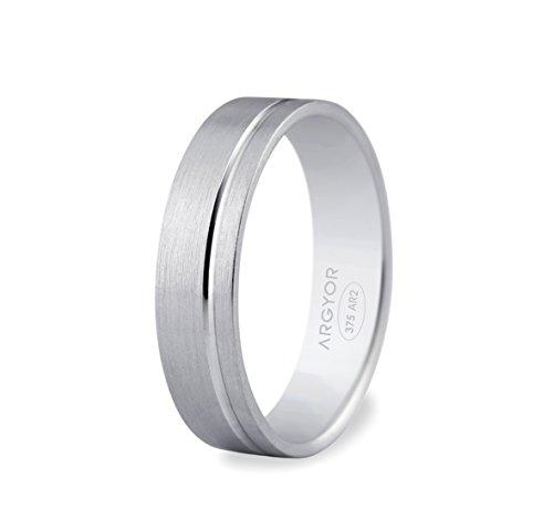 www.diamants-perles.com Unisex Ring JULES, 9 Karat (375) Weißgold, 53 (16.9), 65B50316-9-53