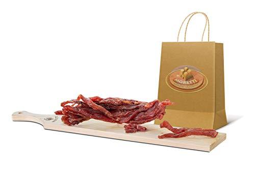 Moretti Coppiette Di Suino Essiccate | Doppio sottovuoto 300gr+ | Straccetti Di Suino | Carne Essiccata Di Filetto e Lombo | 100% Naturale e Magra | Senza Conservanti |