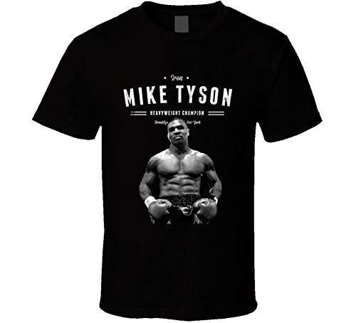 Mike Tyson Iron Mike Boxing Champion Black Graphic Tee Shirt Mens Casual T Shirts Tops Clothing