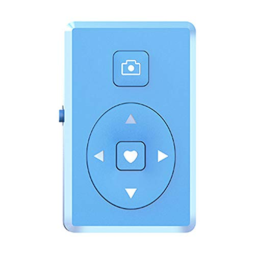 qiguch66 Bluetooth Multi-Media Remote Control Wireless Phone Bluetooth Self-Timer Camera Shutter Video Page Turning with Most Smartphones,Remote Control for Phone Blue