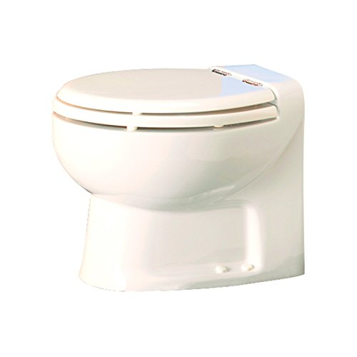 Thetford Tecma Silence 38122 WC-Garnitur mit Wasserpumpe, 2 Modi, 12 V, niedrig, Knochen