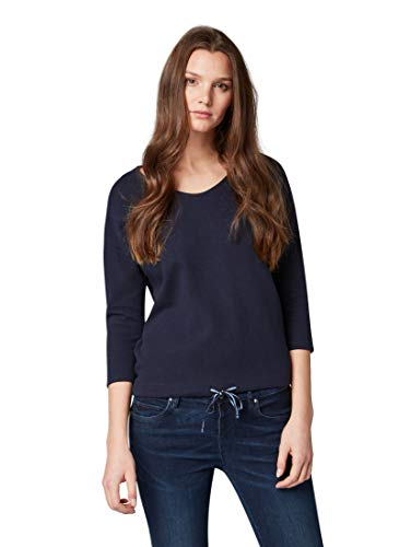 TOM TAILOR Damen 1008718 Sweatshirt, Blau (Sky Captain Blue 10668), Large (Herstellergröße: L)