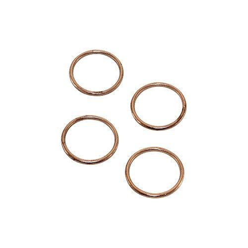 Uitlaat spruitstuk afdichting set 4 stuks 46,5 x 38,9 x 4 mm voor Honda CX GL Goldwing XL Kawasaki KFX KLX KX
