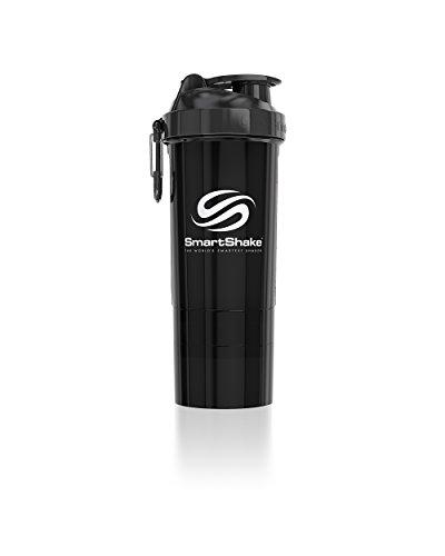 Smart Shake Original 2Go fles 800 ml, pistoolmetaal, zwart
