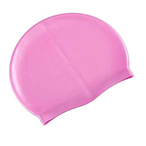 サントレード シリコン水泳帽 スイミングキャップ 防水 男女兼用 長い髪 (パープル)
