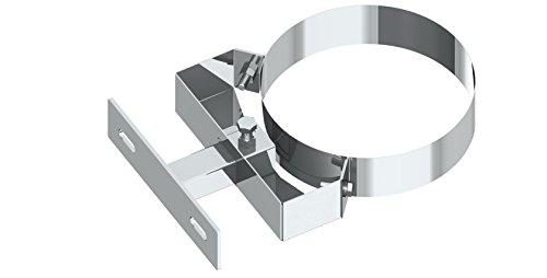 Wandabstandshalter verstellbar 50-150mm für doppelwandige Schornsteine DW; Ø 200mm Innendurchmesser, Edelstahl