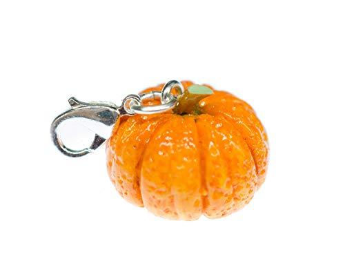 Miniblings Kürbis Halloween Gemüse Charm Zipper Pull Anhänger Fimo 3D Herbst