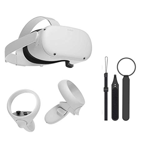 Oculus Quest 2 — Most Advanced All-in-One Virtual Reality Gaming Headset w/ Mazepoly Knuckle Strap...
