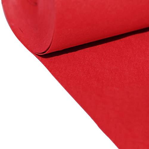 Alfombra Roja Eventos Alfombra Roja del Corredor para El Pasillo Los Corredores de Bodas desechables de 2 Mm de Grosor para El Pasillo Afuera El Corredor del Pasillo d(Size:1.2×10m(4×33ft),Color:rojo)