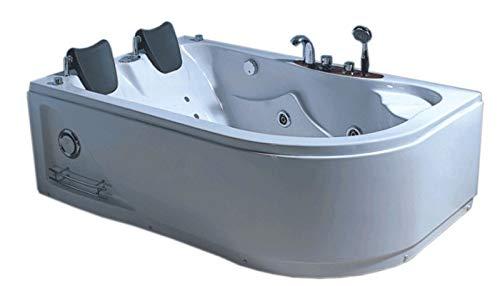 Bañera hidromasaje Model HAVANA 170 X 115 cm Bañera de esquina hidromasaje Spa Para 2 nueva