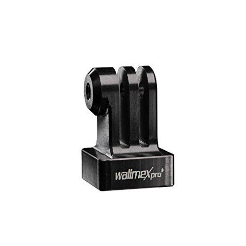 walimex Pro Aluminium GoPro Stativadapter (cnc gefräst, eloxiertes Aluminium (1/4 Zoll auf GoPro Mount), geeignet für GoPro Hero 6 5 4 3+ 3 2 1, Session und andere kompatible Action Cams) schwarz