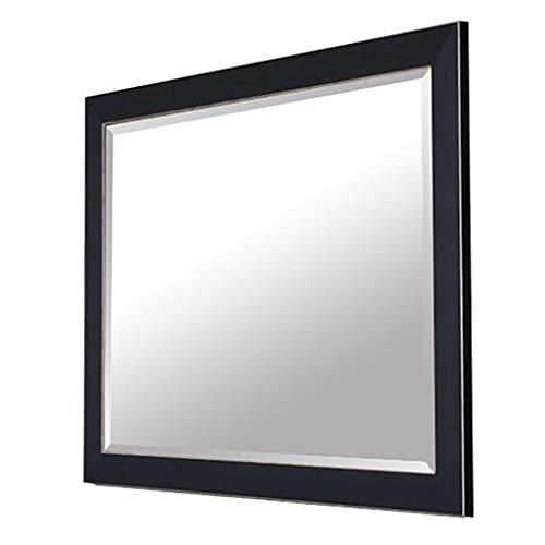 Wandspiegel, badkamerspiegel, mode badkamerspiegel met zwarte lijst, cosmeticaspiegel, dressing spiegel, cosmetische spiegel, scheerspiegel, hangende spiegel, slaapkamer decoratief (50 stuks)