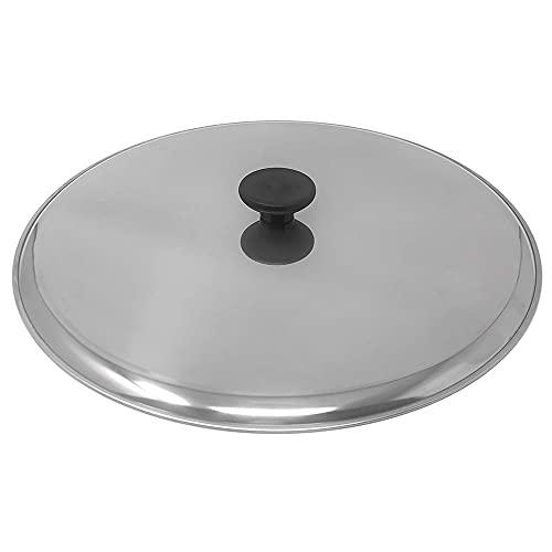Space Home - Tapa Voltea Tortilla - Tapa Multiusos para Sartenes y Ollas - Tapa Antisalpicaduras - Acero Inoxidable - 31 cm