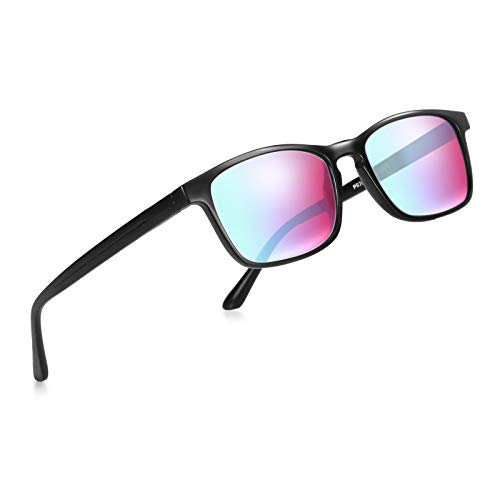 DYDZSH Colorblind Glasses for Men All Color Blindness Glasses for Red, Green, Blue, Yellow, Purple (Color : Black)
