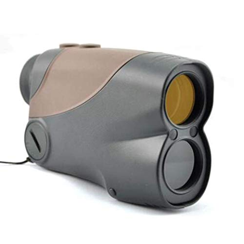 WSMLA Golf telémetro - telémetro láser con láser de los prismáticos 6X25 Yard Golf Caza del telémetro del metro de distancia Medidor velocidad con Ranging, función de exploración asta de bande