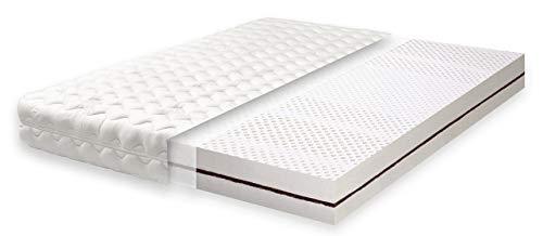 Primo Line Latexmatratze Kokos Matratze 90x200 H2 mit Kokosplatten 7 Zonen RG 65 (bis 95kg) Bezug & Latexkern ÖKO TEX®