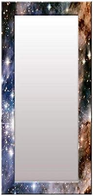 999Store Printed Blue Sky& Stare Pattern Mirror