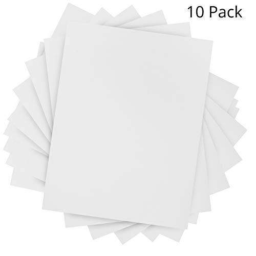 Belle Vous Schaumstoffplatte (10 Stk) - A4 Weiß Schaumstoff Bögen (30,4x22,9cm) - 6mm Dicke Schaumstoffplatte für Basteln, Scrapbook, Cosplay, Kostüm, DIY, Kinder, Bastelzubehör
