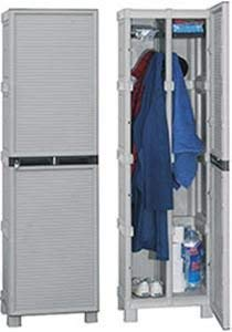 Armadio Armadietto spogliatoio in plastica con divisorio sporco pulito Cm-50x39x172