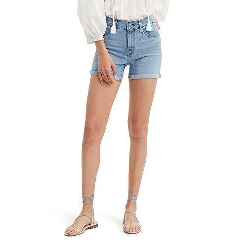 Levi's Women's Mid Length Shorts, Oahu Clouds, 33 (US 16)